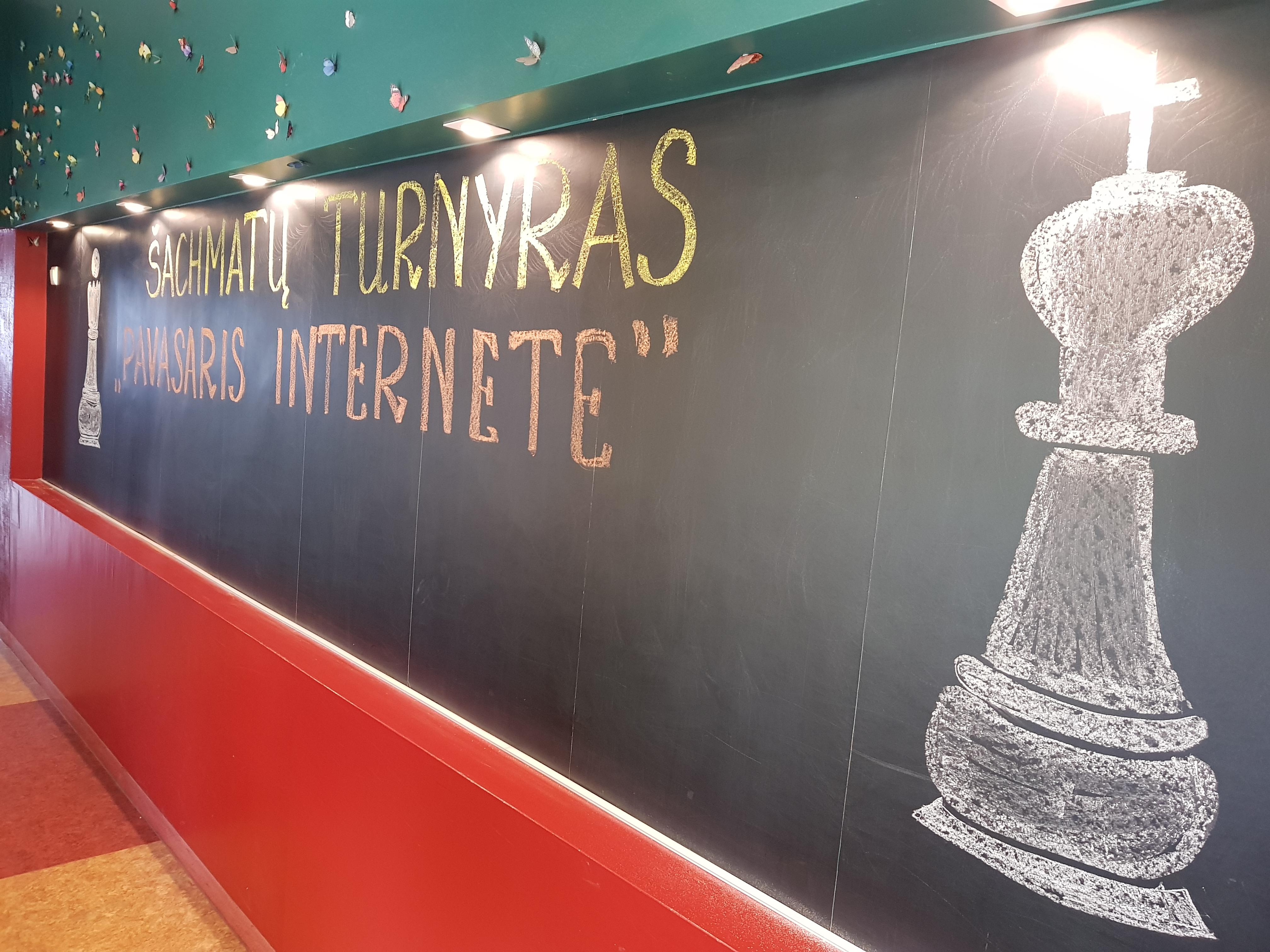 """Šachmatų turnyras """"Pavasaris internete"""""""