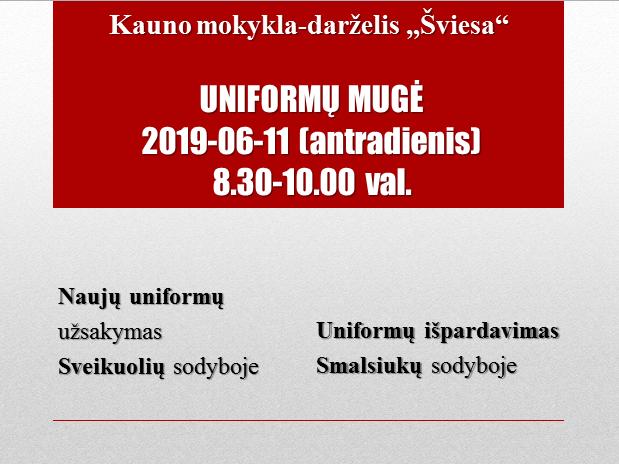 Uniformu muge 2019